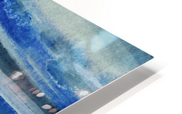 Ocean And Sea Beach Coastal Art Organic Watercolor Abstract Lines III HD Sublimation Metal print