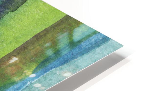 Ocean And Sea Beach Coastal Art Organic Watercolor Abstract Lines IV HD Sublimation Metal print