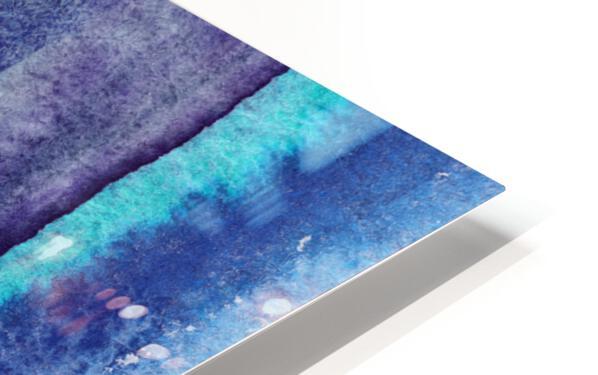 Ocean And Sea Beach Coastal Art Organic Watercolor Abstract Lines V HD Sublimation Metal print