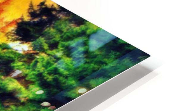 Mountain Lake  HD Sublimation Metal print