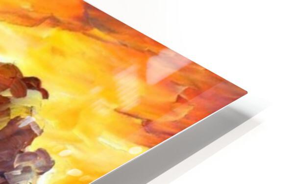 Golden Sails HD Sublimation Metal print