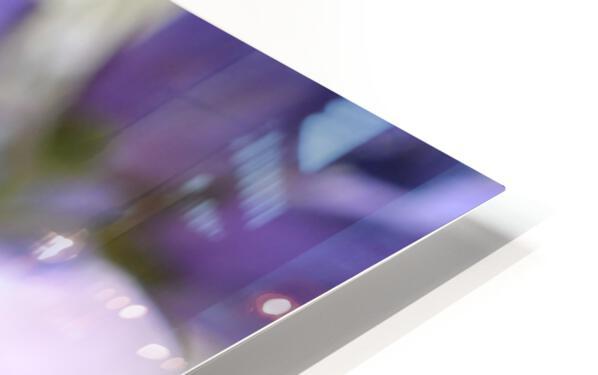 Blue Floral Photograph HD Sublimation Metal print