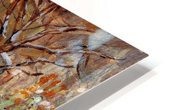 MONTREAL WINTER SCENE MCGILL WINTER WALK NEAR RODDICK GATES HD Sublimation Metal print