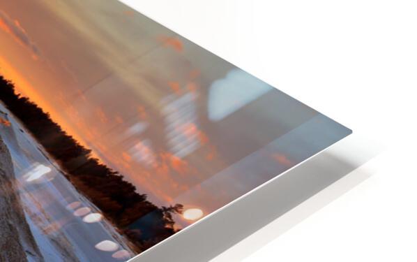 Icy Sunset  Naubinway Michigan HD Sublimation Metal print
