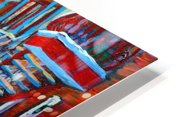 HOCKEY ON DEBULLION MONTREAL WINTER SCENE HD Sublimation Metal print