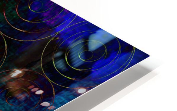 Blue Splash Wings HD Sublimation Metal print
