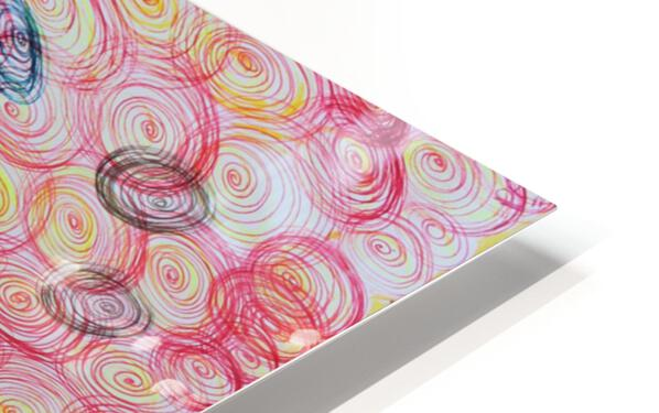 COLORFUL SPIRALS HD Sublimation Metal print