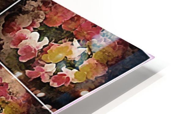 Vintage Floral Imaginings Collage HD Sublimation Metal print