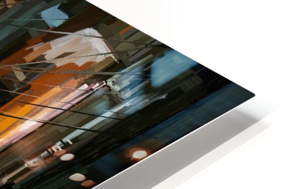 LateNightStreet HD Sublimation Metal print