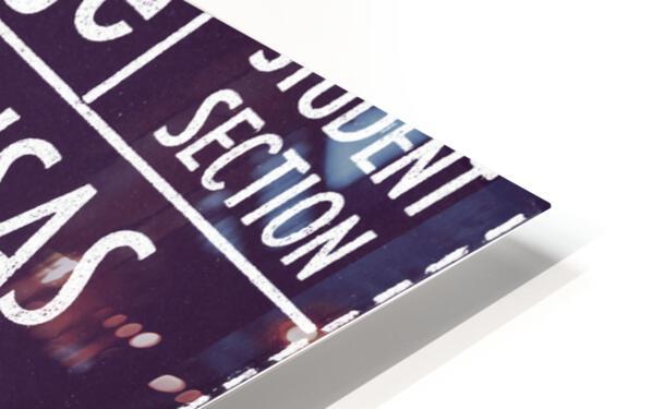 1956 Kansas State vs. Kansas Basketball Ticket Remix Art HD Sublimation Metal print
