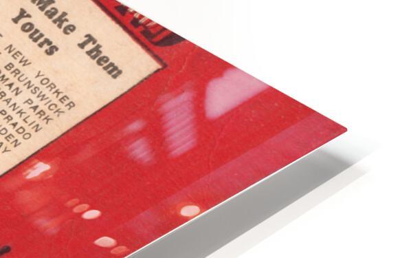 1933 Detroit Tigers Score Card Art HD Sublimation Metal print