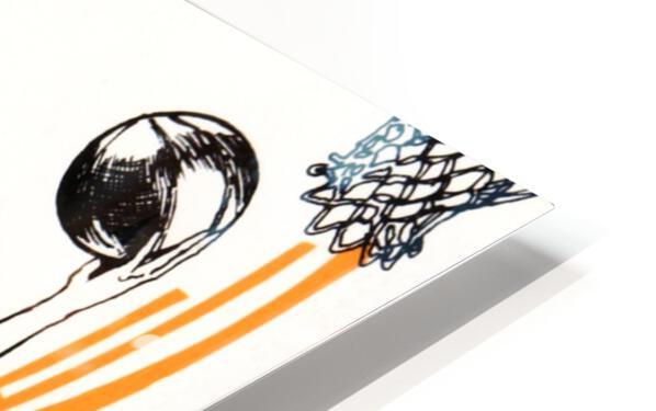 1977 Phoenix Suns Basketball Art HD Sublimation Metal print