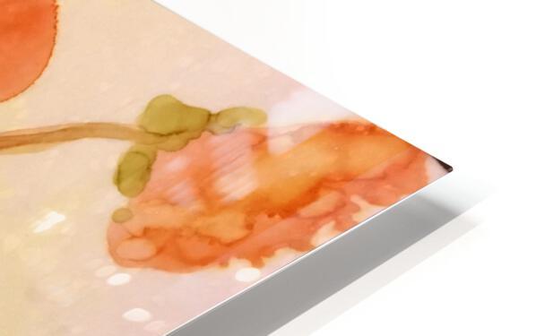 Orange Nasturiums Impression de sublimation métal HD