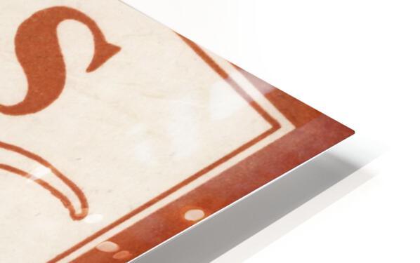 Historic Texas Longhorns Art HD Sublimation Metal print