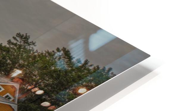 Hangar et chaloupe de la maison Xavier-Blanchette HD Sublimation Metal print