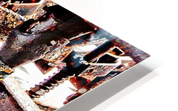 Antique Horse Drawn Seed Tiller HD Sublimation Metal print