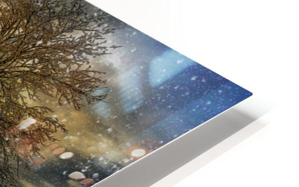 A Magical Winter Night HD Sublimation Metal print