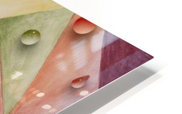 Rainbow Water Drops HD Sublimation Metal print