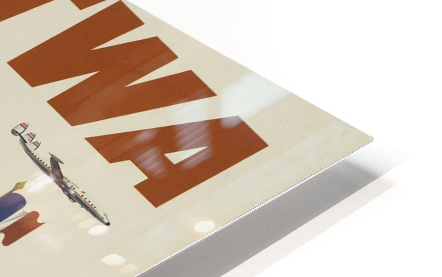 Fly TWA Paris Tourism Poster Impression de sublimation métal HD
