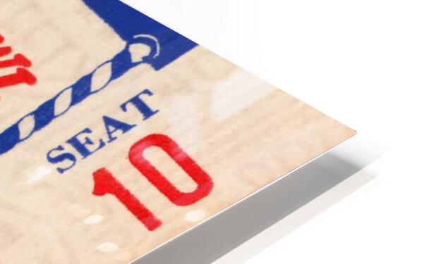 1955 Pro Bowl Football Ticket Stub Art HD Sublimation Metal print