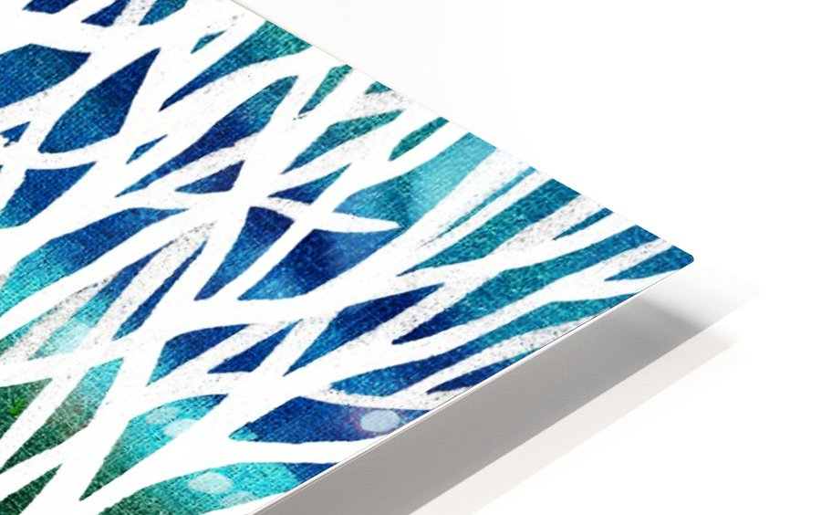 White And Teal Forest HD Sublimation Metal print