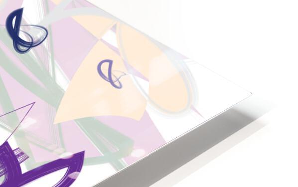 Purple Wispers HD Sublimation Metal print