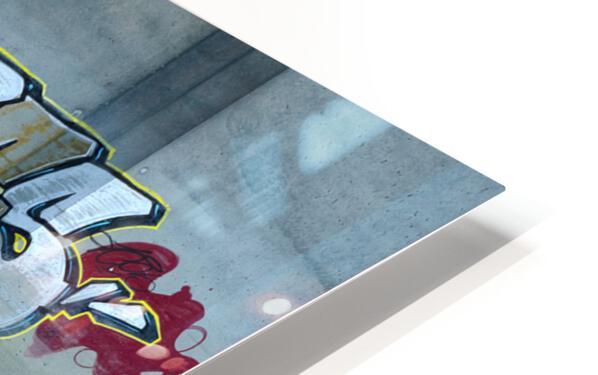 Reflet sous un pont - Reflection under a bridge HD Sublimation Metal print
