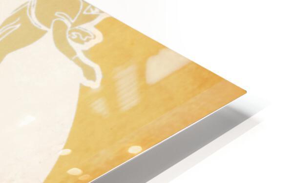 Retro Baseball Pitcher and Batter Art HD Sublimation Metal print