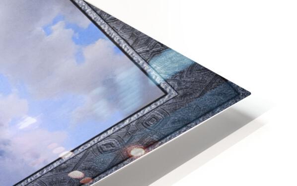 Snow Landscape by Alexander Joseph Daiwaille Classical Art Xzendor7 Old Masters Reproductions HD Sublimation Metal print