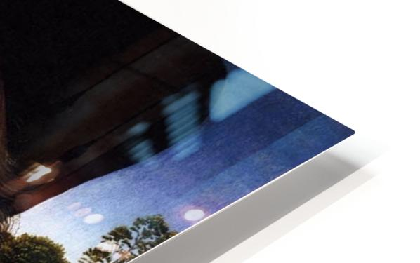 Portrait of a Young Man before a Landscape HD Sublimation Metal print