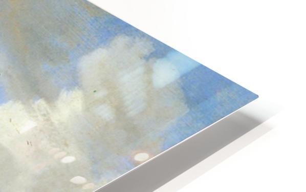 River landscape with ferry Sun HD Sublimation Metal print
