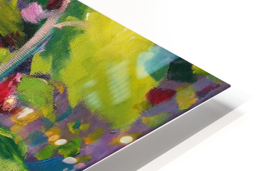 Hollyhocks  HD Sublimation Metal print