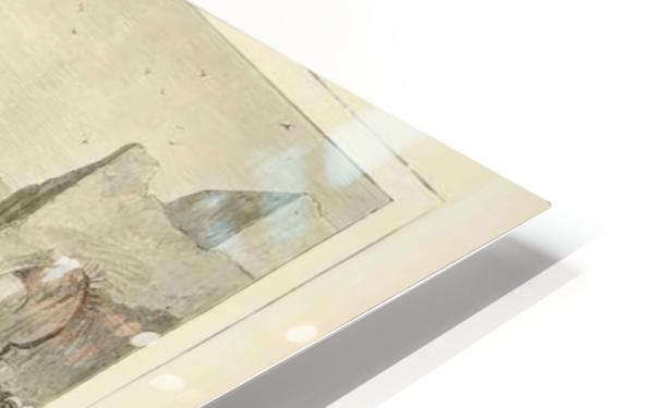 1874 Wood Engraving HD Sublimation Metal print