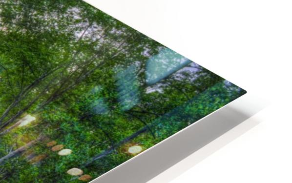 Lakeside sunset; Bushkill, Pennsylvania, United States of America HD Sublimation Metal print
