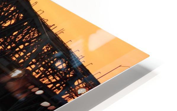 Champlain Bridge sunset HD Sublimation Metal print