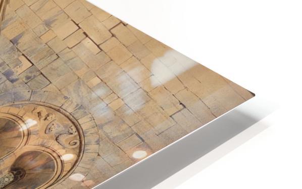 Kirchenportal und Personengruppe 1842 HD Sublimation Metal print