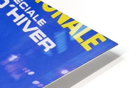 Loterie Nationale original vintage poster ski winter sport Impression de sublimation métal HD