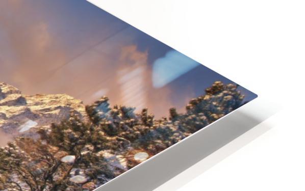 Mountain Light HD Sublimation Metal print