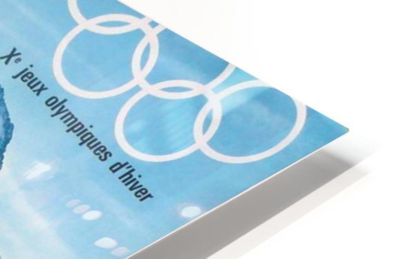 Olimpiade-ski Klasik Vintage Poster HD Sublimation Metal print