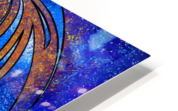 Dragissous V1 - blue dragon HD Sublimation Metal print
