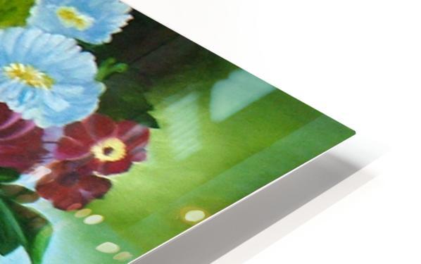 Floral Galaxy HD Sublimation Metal print