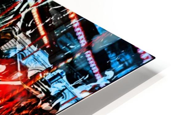 The World  Becomes a Blur HD Sublimation Metal print