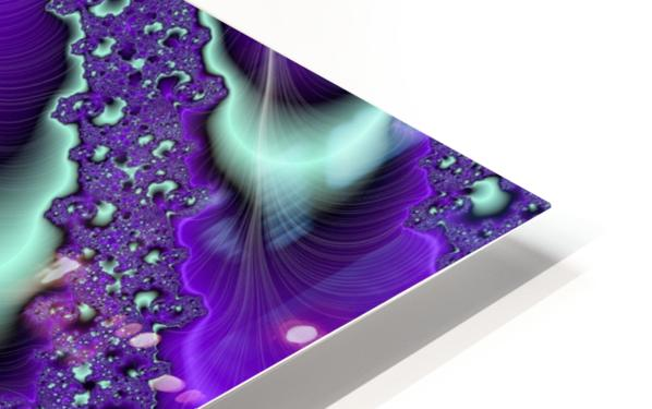 Purple Vortex HD Sublimation Metal print