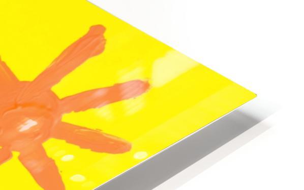 Girl Painting On Glass HD Sublimation Metal print