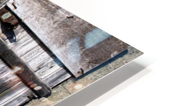 Old Wooden Door Of Building HD Sublimation Metal print