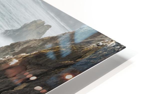 Surf breaks on the rocks; Manzanita, Oregon, United States of America HD Sublimation Metal print