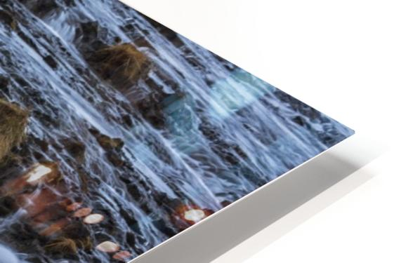 Turquoise water flowing over rocks into a river; Bruarfoss, Iceland HD Sublimation Metal print