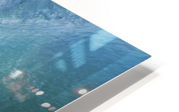 Surfer On Blue Ocean Wave HD Sublimation Metal print