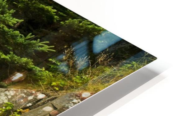 Balancing rock, basalt rock cliffs, Bay of Fundy; Long Island, Nova Scotia, Canada HD Sublimation Metal print