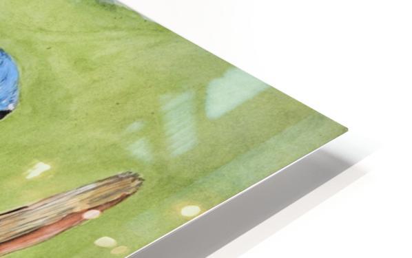Blue Scrub Jay On Dead Tree HD Sublimation Metal print